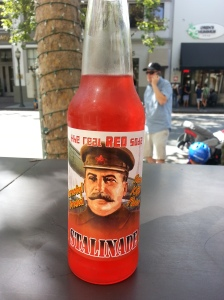 Stalinade was not purchased in Whole Foods. It's red coloured sugar water, but fun!